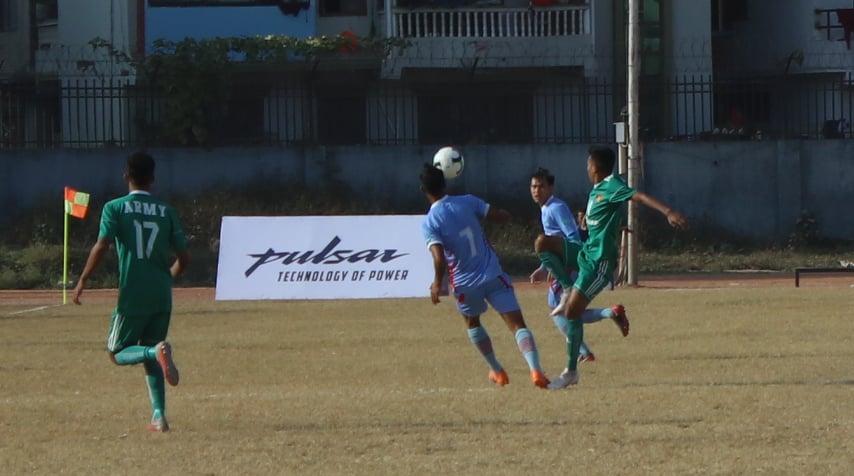ए डिभिजन लिगः दोस्रो खेलको पहिलो हाफमा आर्मी १—० ले अगाडि