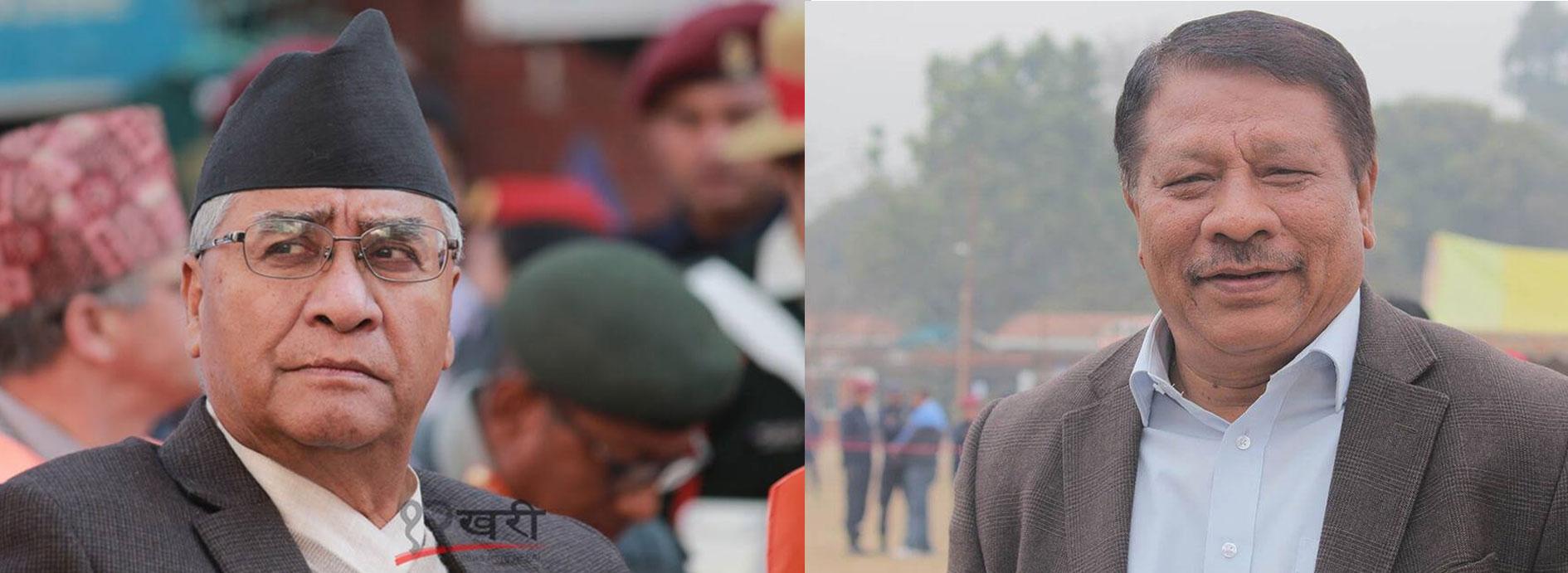 नेपाली कांग्रेसमा देउवासँग सिंह भिड्ने