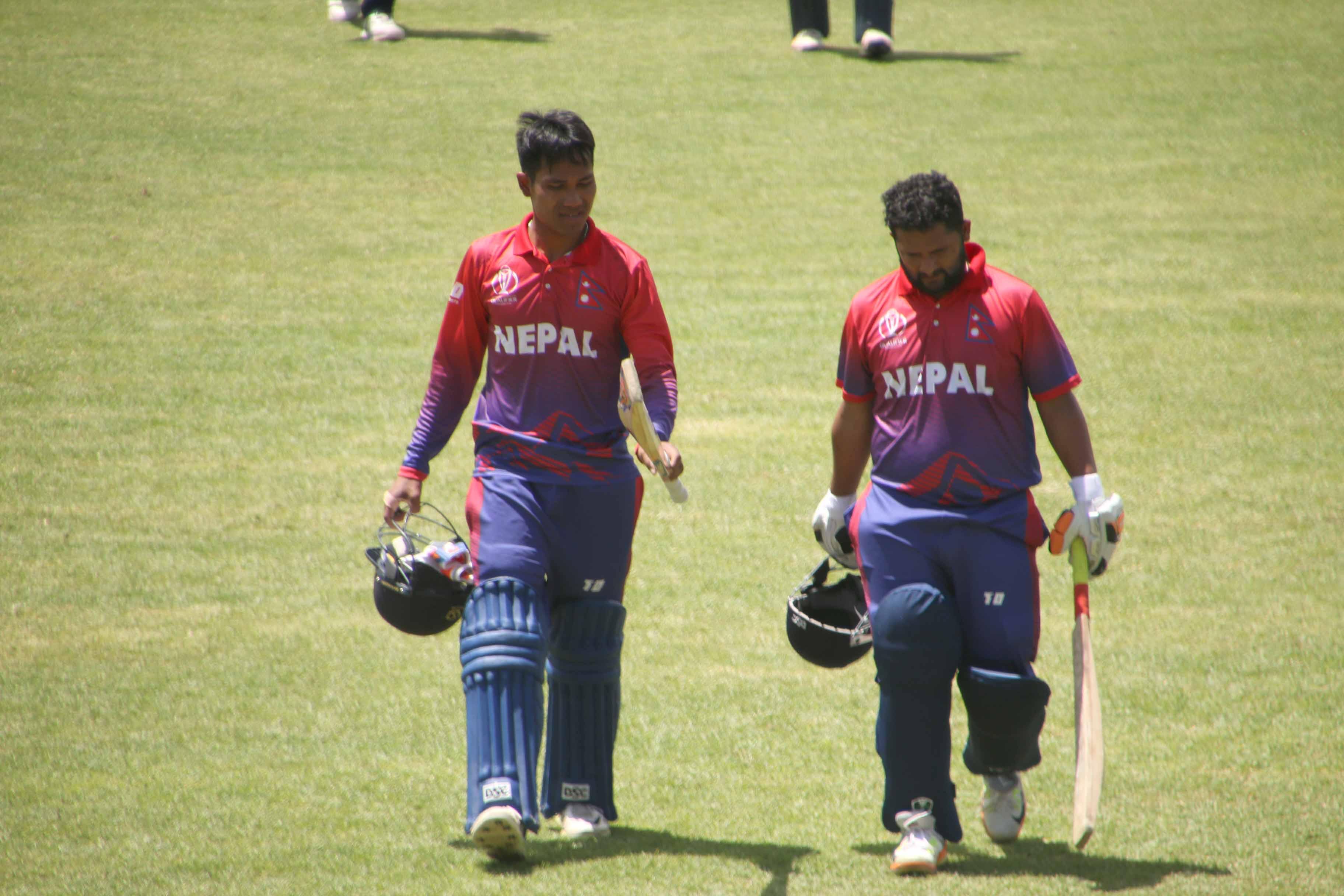 नेपाल स्कटल्याण्डसँग ४ विकेटले पराजित, सुपर सिक्समा पुग्न अफगानिस्तान र हङकङलाई हराउनैपर्ने