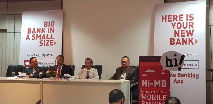 हिमालयन बैंकको मोबाइल बैंकिङ एप सुरु