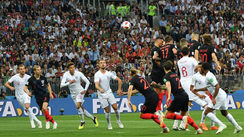 क्रोएसियाविरुद्ध इंग्ल्यान्ड पहिलो हाफसम्म १–० गोलले अघि