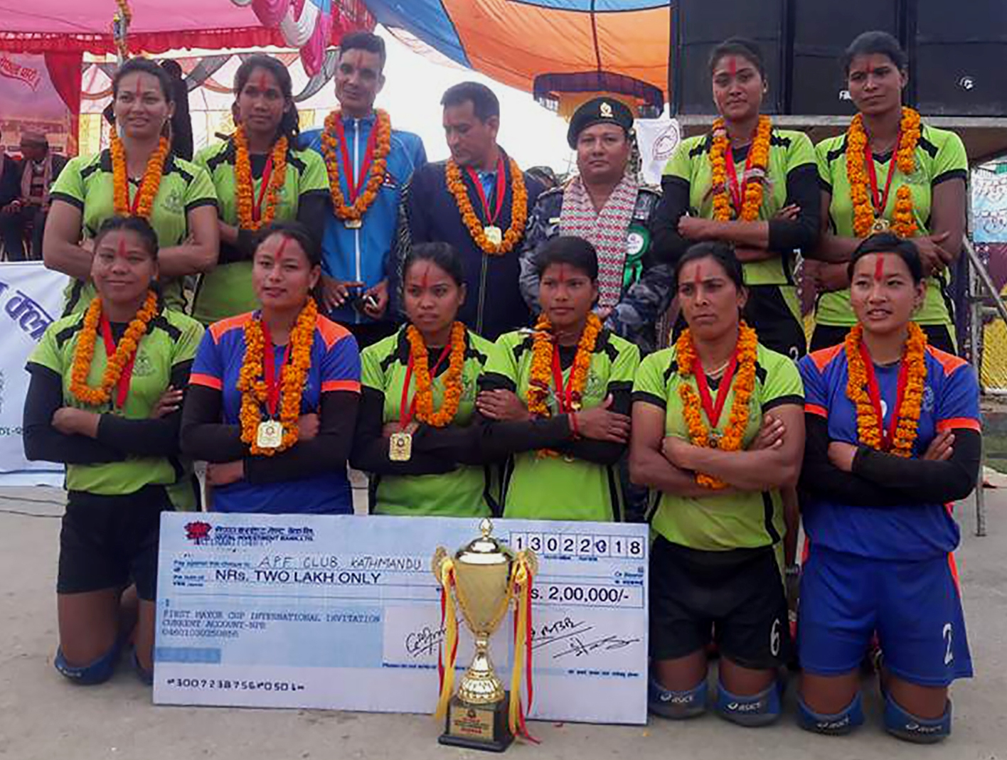 एपीएफलाई मेयर कप महिला भलिवलको उपाधि, एपीएफकी सरस्वती उत्कृष्ट खेलाडी