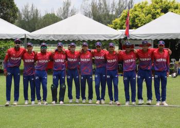 अन्तिम खेलमा कुवेतसँग प्रतिस्पर्धा गर्दै नेपाल