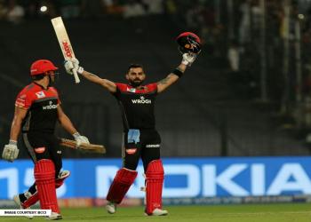 घरेलु मैदानमै कोलकत्ता पराजित, बैंग्लोर १० रनले विजयी