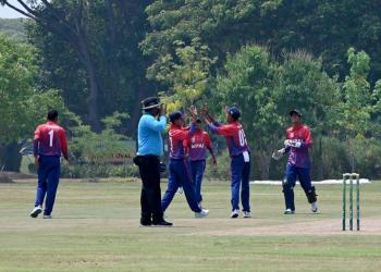 यू–१६ पूर्वी क्षेत्रिय क्रिकेटः पहिलो खेलमा नेपालको सहज जित