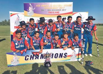 यू-१६ क्रिकेट टोली घोषणा